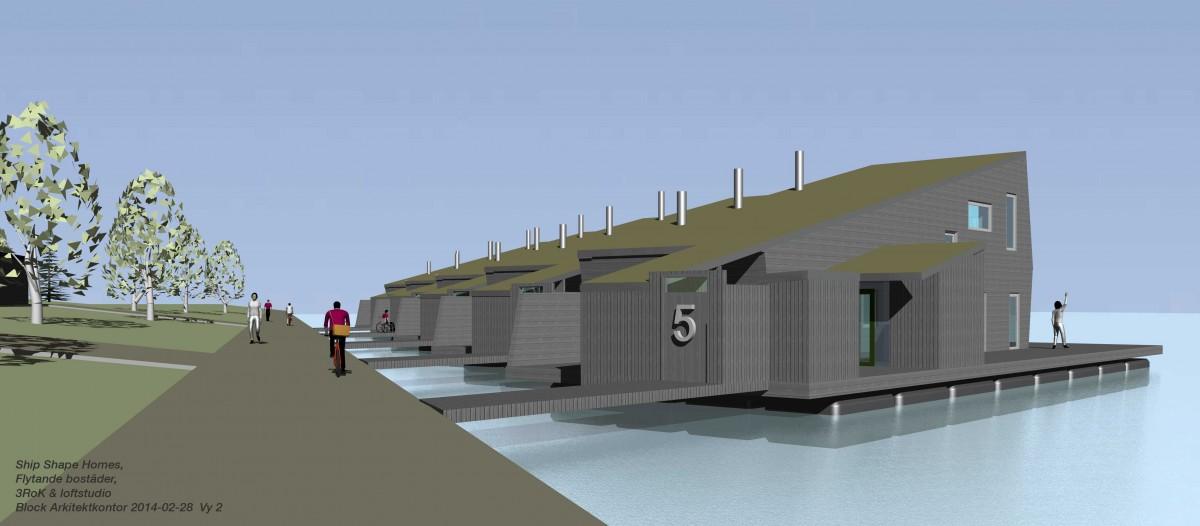 Flytande 3(-4) RoK. Bo bra på vatten. ShipShapeHomes