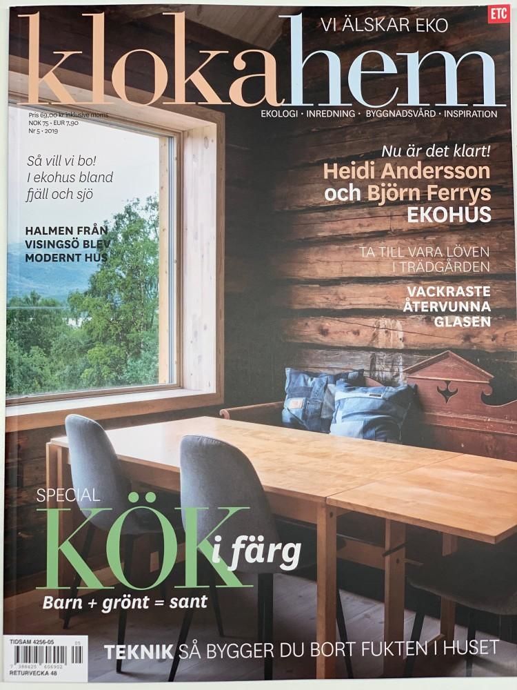 Heidi och Björn byggde reko eko-hus, Kloka Hem Nr 5 2019