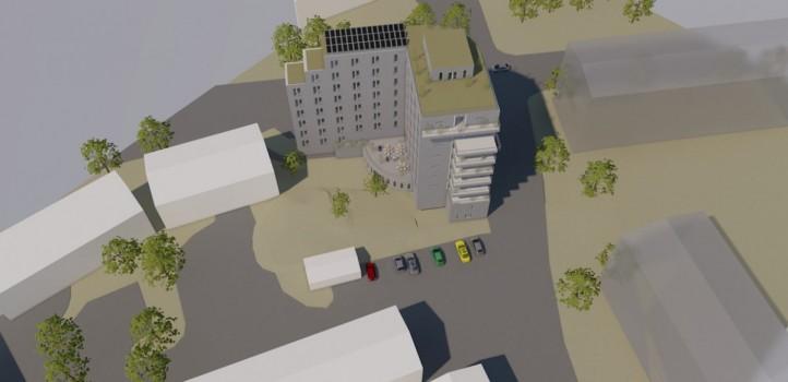 Volymstudie Bagarmossen Block Arkitektkontor