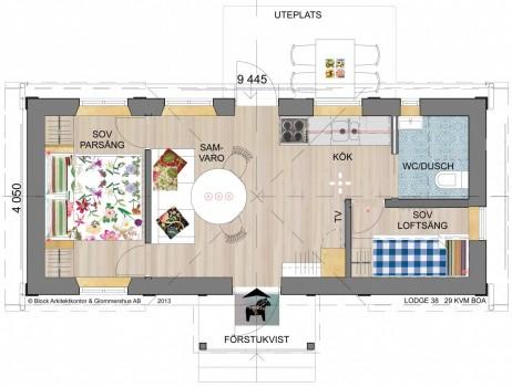 Lodge 38 Stugbyn i Sverige AB Planlösning