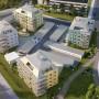 Karlgård Översikt 57 lgh Skellefteå. Visualisering Diakrit.