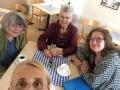 Fika och samtal i samband med möte i Sthlms stadshus 2016-06
